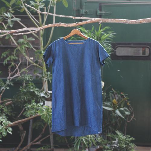 Linen one-piece dress