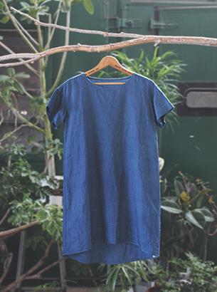 Linen one-piece dress*